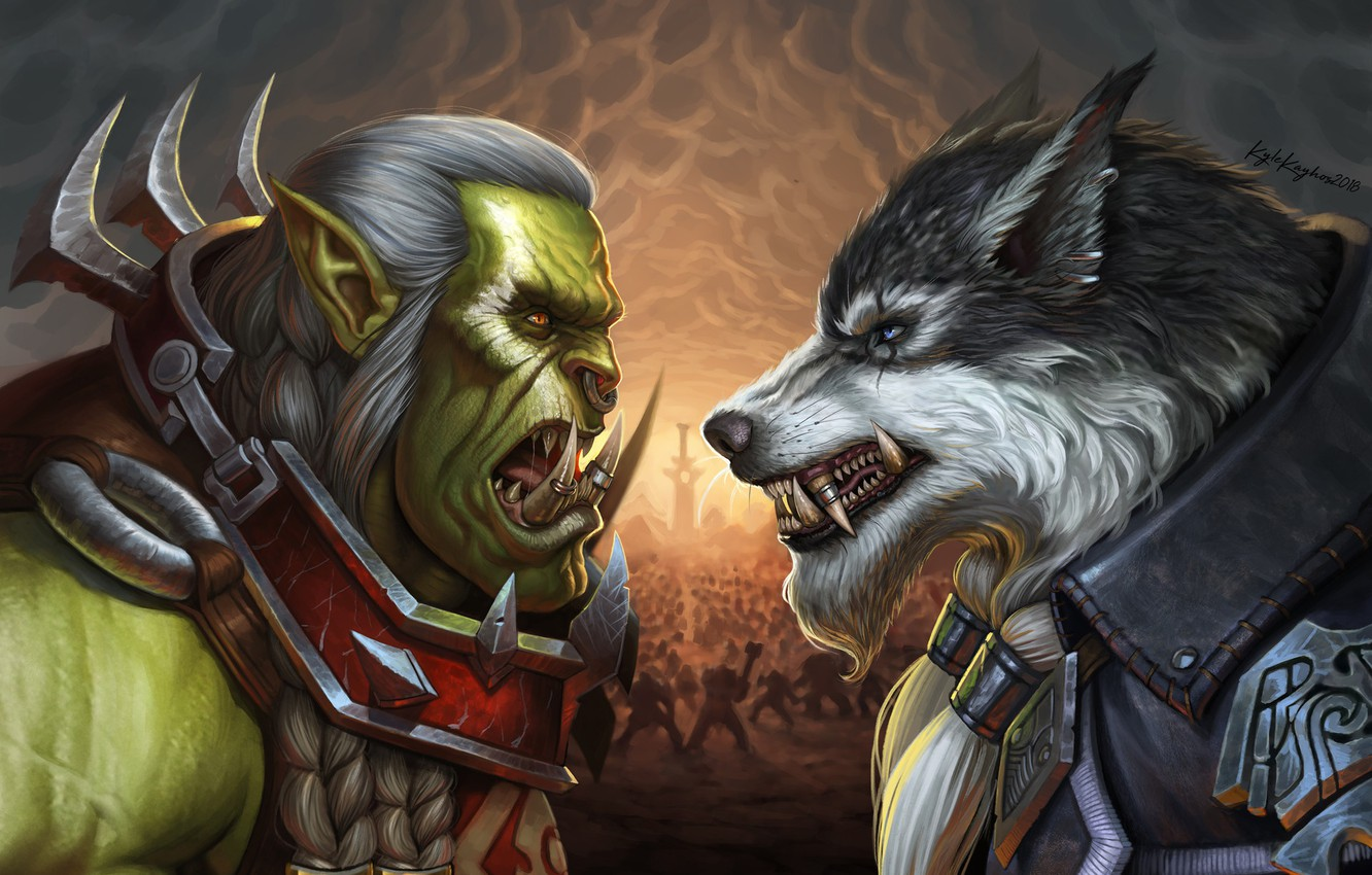 Фото обои Blizzard, Art, WarCraft, Illustration, Fanart, Characters, Game Art, Greymane, World of WarCraft, Kyle Herring, by ...