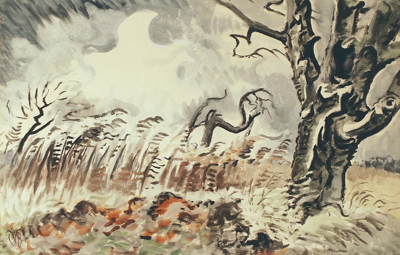 Фото обои 1950, Charles Ephraim Burchfield, November Storm