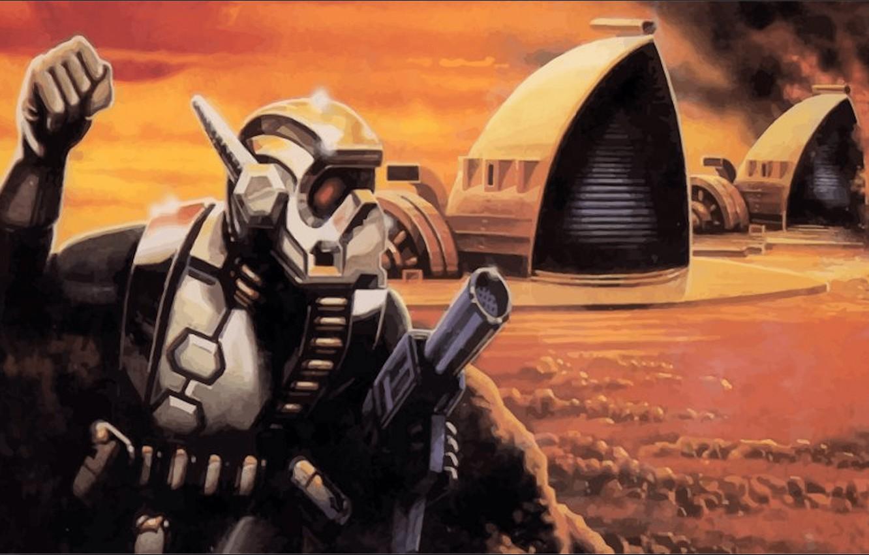 Фото обои игра, 16bit, дюна, sega, сега, Dune, Dune II, dune 2 the battle for arrakis, Dune2