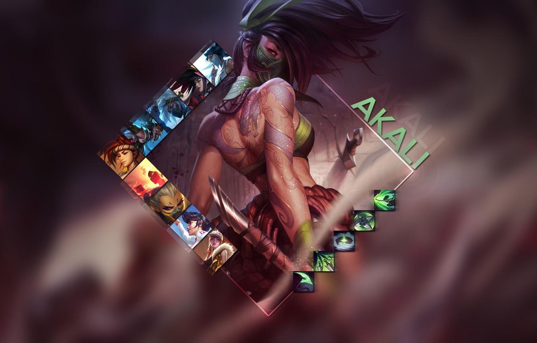 Фото обои игра, Akali, League of Legends