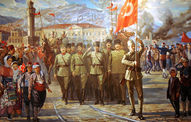 Фото обои painting, turkey, 1922, izmir, 9 September