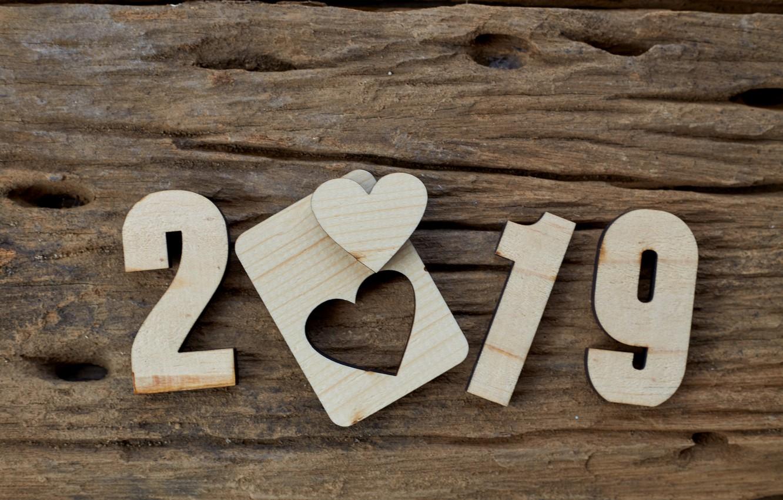 Фото обои фон, дерево, доски, heart, wood, texture, background, wooden, 2019
