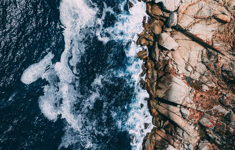 Фото обои море, волны, пейзаж, природа, камни, берег, waves, sea, landscape, coast, nature, stones