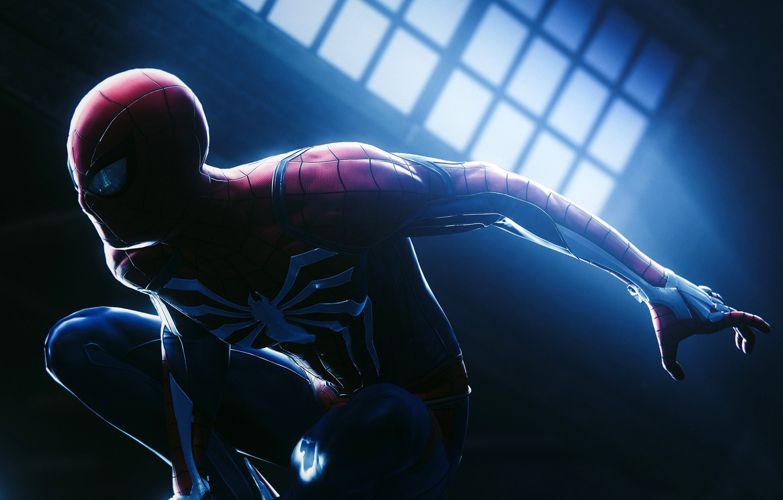 Фото обои костюм, супергерой, Человек-паук, MARVEL, Spider-Man