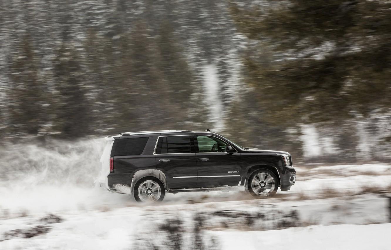 Фото обои скорость, 2018, GMC, SUV, Denali, Yukon