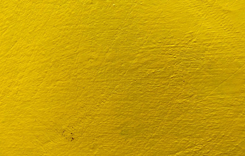 Фото обои жёлтый, стена, краска, текстура, неровности, шероховатости
