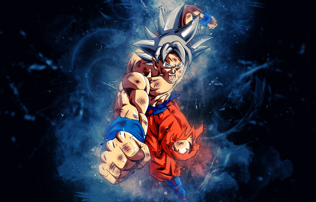 Фото обои anime, art, digital art, dragon ball, goku, avispon217