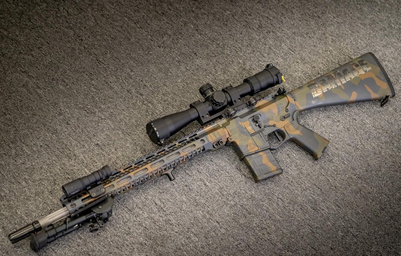 Фото обои оружие, винтовка, weapon, custom, ar-15, assault rifle, assault Rifle, ар-15