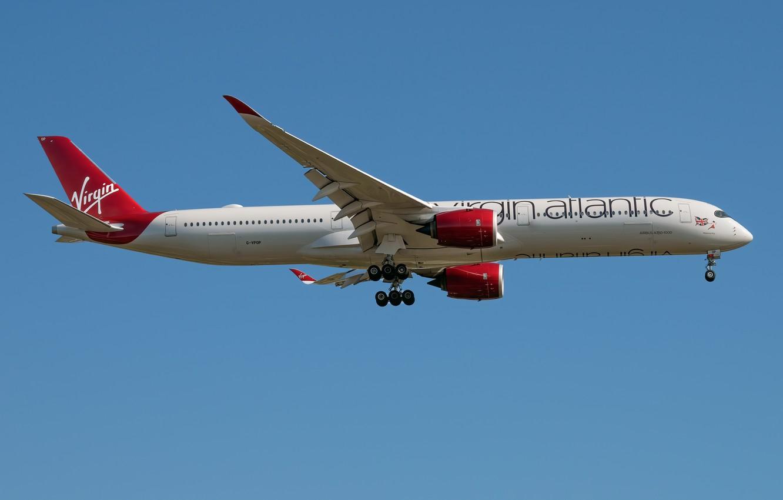 Фото обои Airbus, A350-1000, Virgin Atlantic