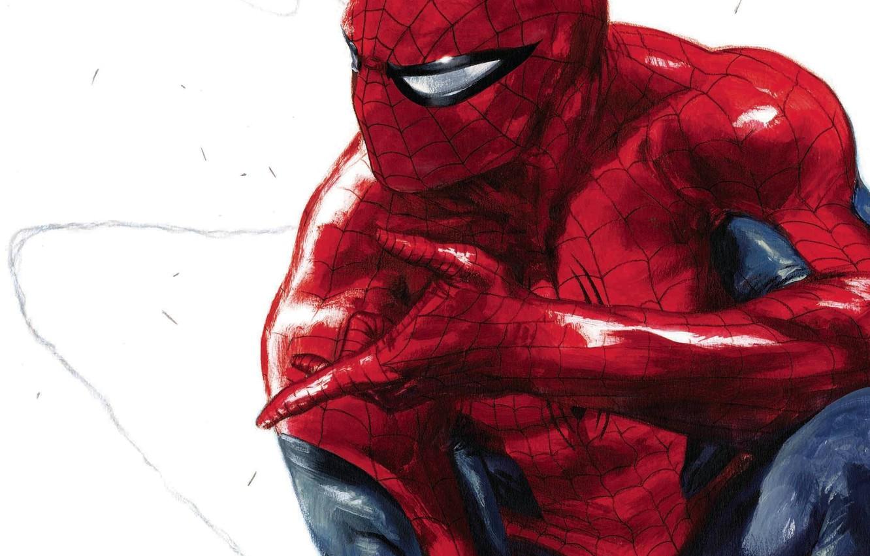 Фото обои Art, Marvel, Comics, Peter Parker, Spider Man