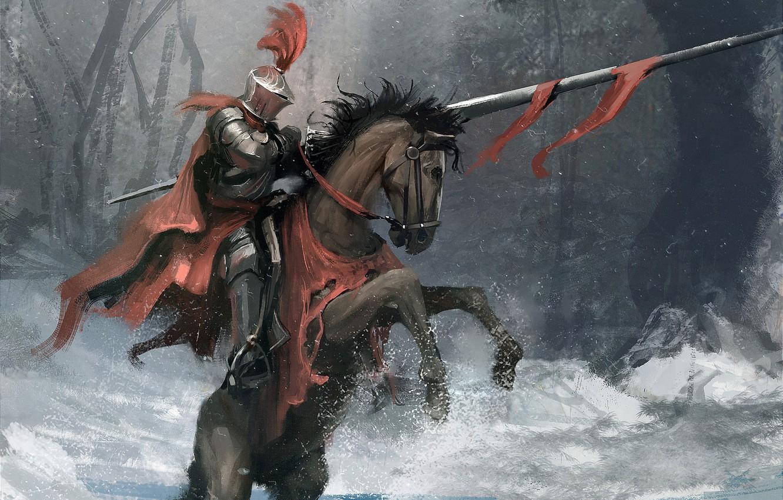 Обои доспехи, Рыцарь, лошадь. Разное foto 11