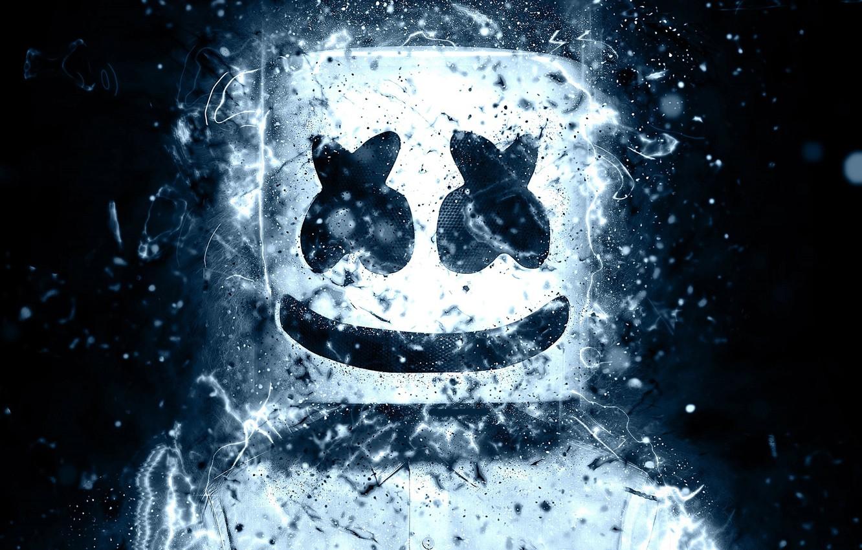 Фото обои улыбка, маска, смайлик, DJ Marshmello