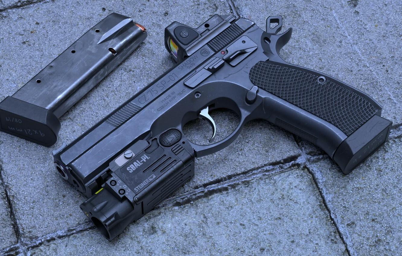 Фото обои пистолет, оружие, pistol, weapon, cz 75, cz 75 sp-01 Shadow, чз 75 сп-01 Тень
