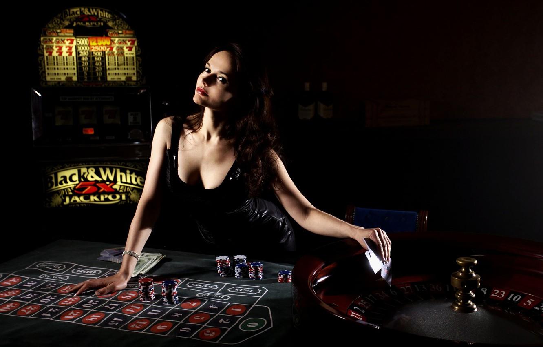 Фото обои карты, девушка, казино