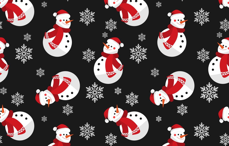 Фото обои украшения, фон, Новый Год, Рождество, снеговик, Christmas, winter, background, pattern, New Year, snowman, decoration, xmas, …