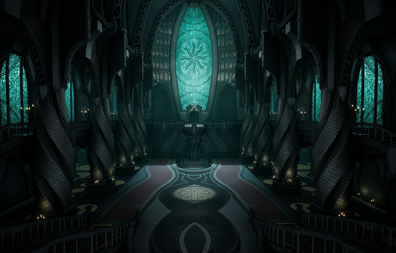 Фото обои церковь, храм, Мертвый Космос, религия, Dead Space 2, church, temple, marker, religion, обелиски, Unitology, Юнитология