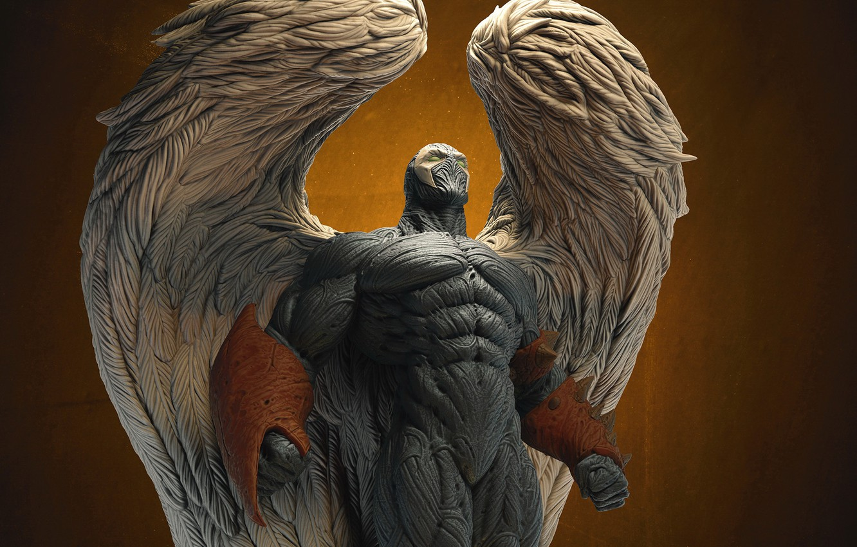 Фото обои фон, крылья, ангел, спаун, wings, suit, spawn, angelspawn