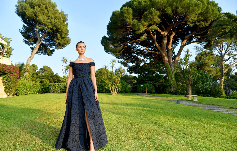 Фото обои платье, актриса, Nina Dobrev