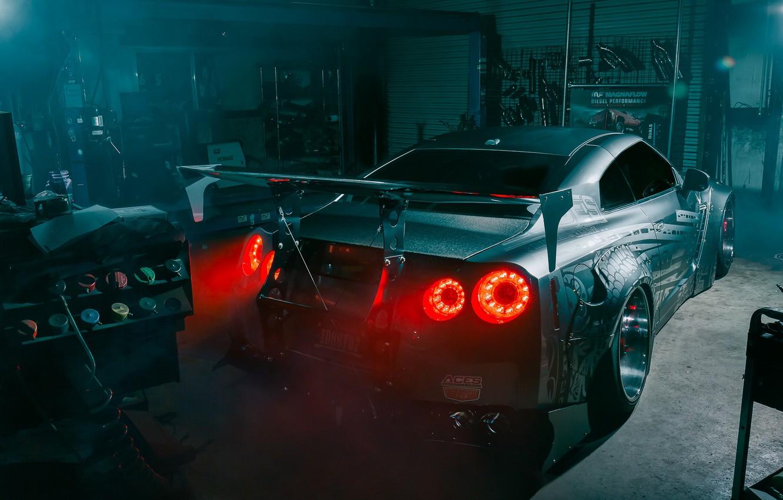 Фото обои Japan, Nissan, GT-R, R35, Garage