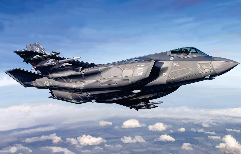 Обои истребитель, бомбардировщик, F-35, lightning ii. Авиация foto 11