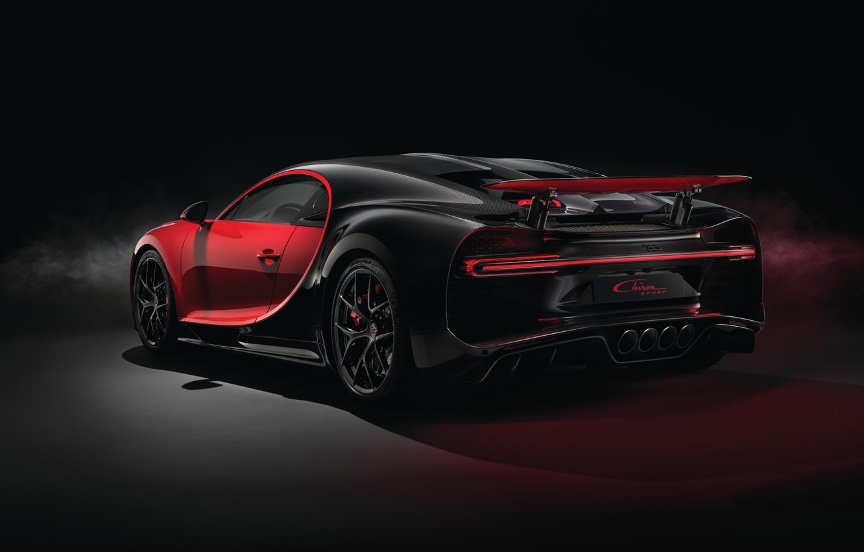Фото обои Bugatti, вид сзади, 2018, Sport, Chiron