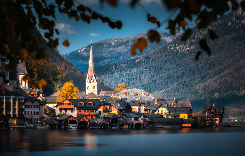Обои австрия, гальштат, городок. Города foto 6