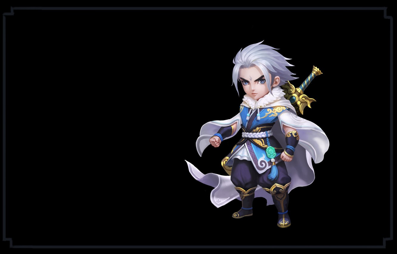 Фото обои оружие, игра, меч, воин, фэнтези, арт, wang xiao, Shushan Hero