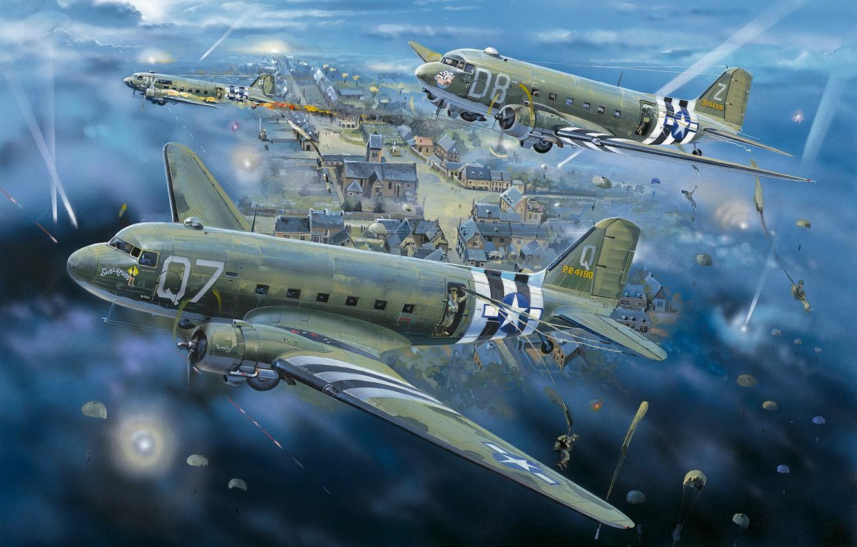 Обои Дуглас c-47, американский. Авиация foto 6