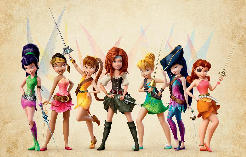 Фото обои девочки, феи, The Pirate Fairy