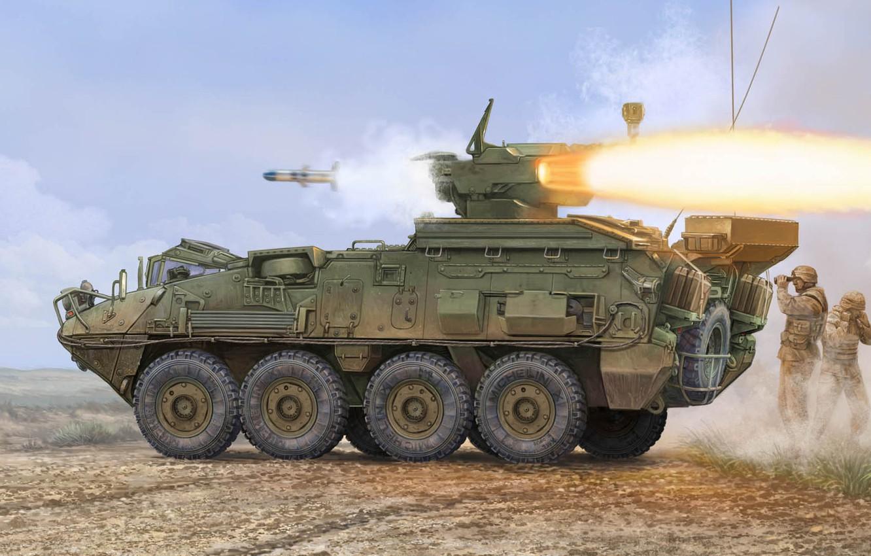 Фото обои General Dynamics Land Systems, лёгкая боевая машина, TUA, TOW Under Armour