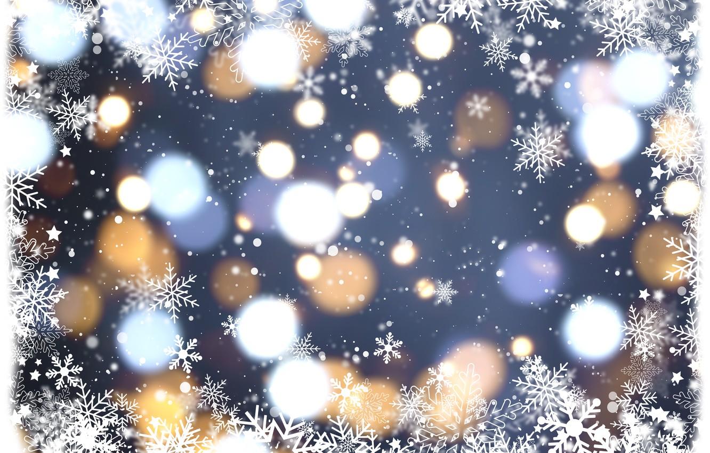 Фото обои зима, снег, снежинки, фон, голубой, Christmas, blue, winter, background, snow, snowflakes