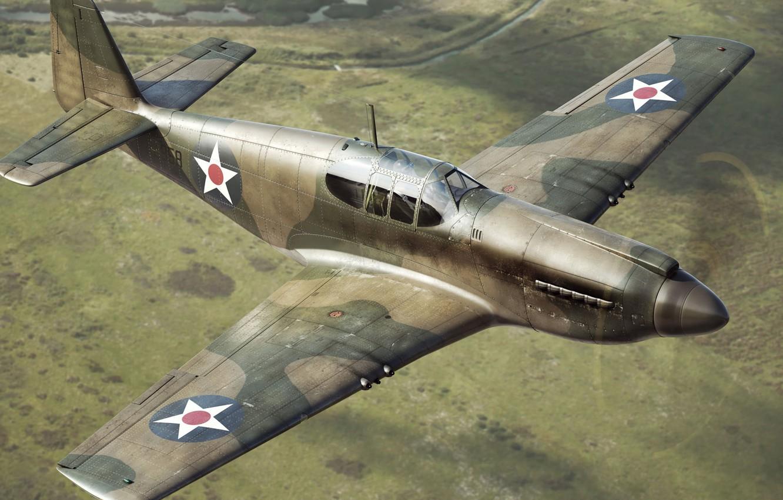 Обои дальний, одноместный, P-51c mustang, американский. Авиация foto 14