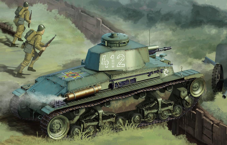 Фото обои Skoda, чехословацкий лёгкий танк, LT vz.35, румынский танк R-2