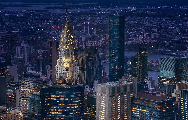 Обои new york, manhatten, ночь. Города foto 14