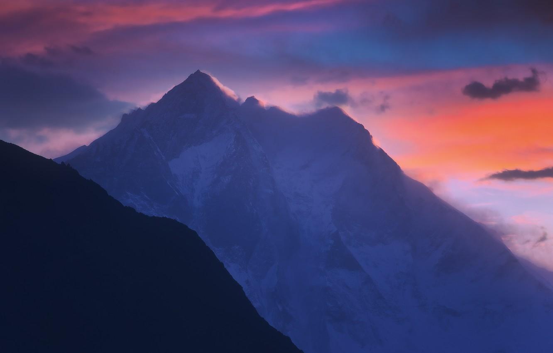 Фото обои снег, горы, ветер, Гималаи