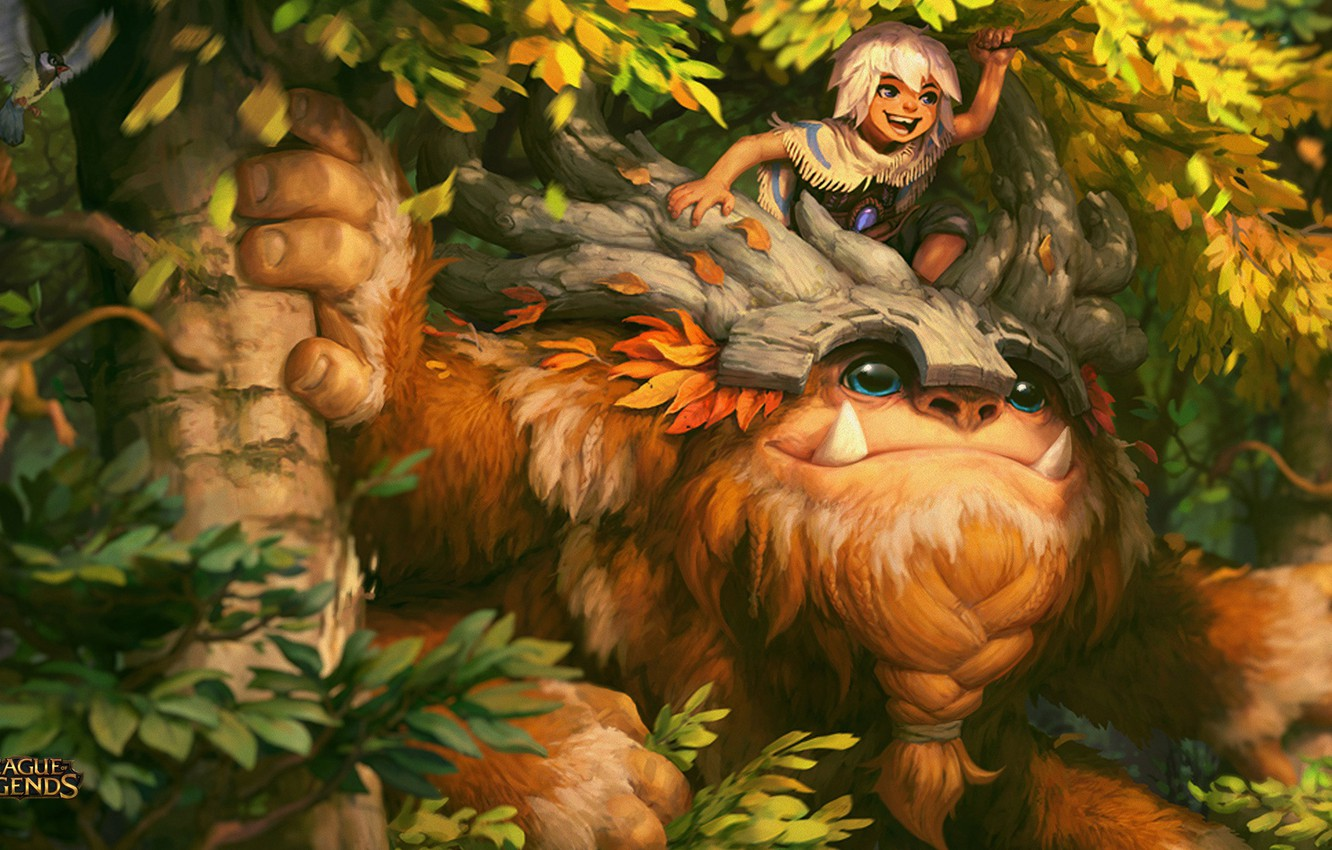 Фото обои League of Legends, Bigfoot, Nunu, Willump
