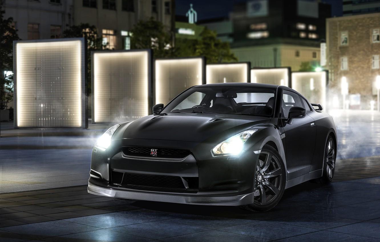 Фото обои Japan, Nissan, GT-R, Lights, Legend, R35