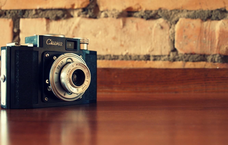 Фото обои ретро, Фотоаппарат, старый, смена