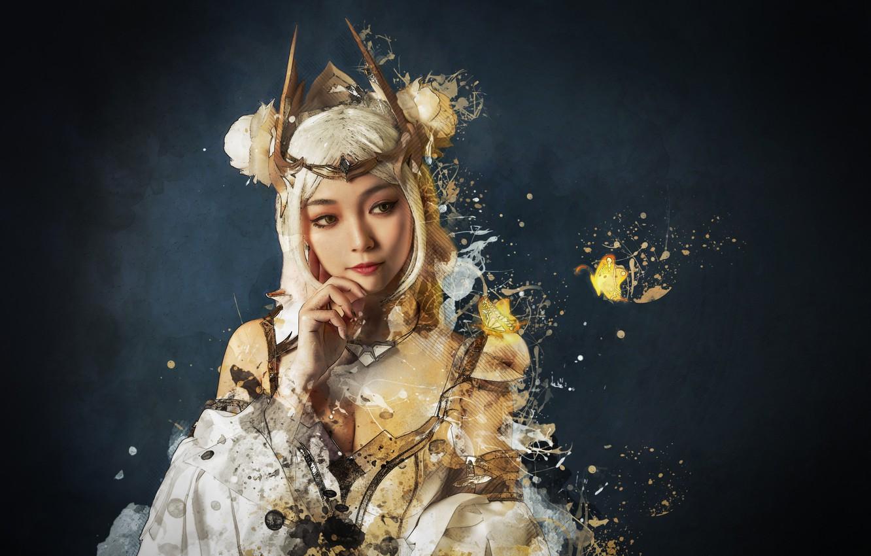 Фото обои девушка, стиль, фото - рисунок, аниме косплей, японская девушка