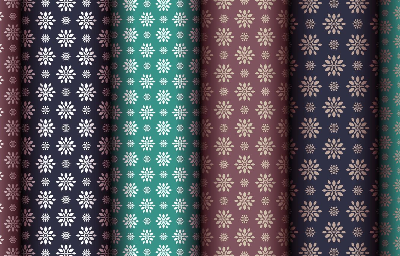 Фото обои цветы, зеленый, фон, узор, коричневый