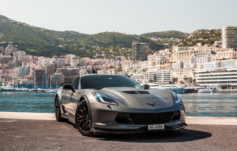 Фото обои wheels, corvette, black, chevrolet, z06, AG-4986