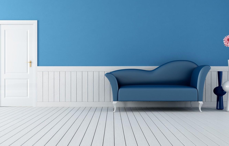 Фото обои комната, диван, стена, Интерьер