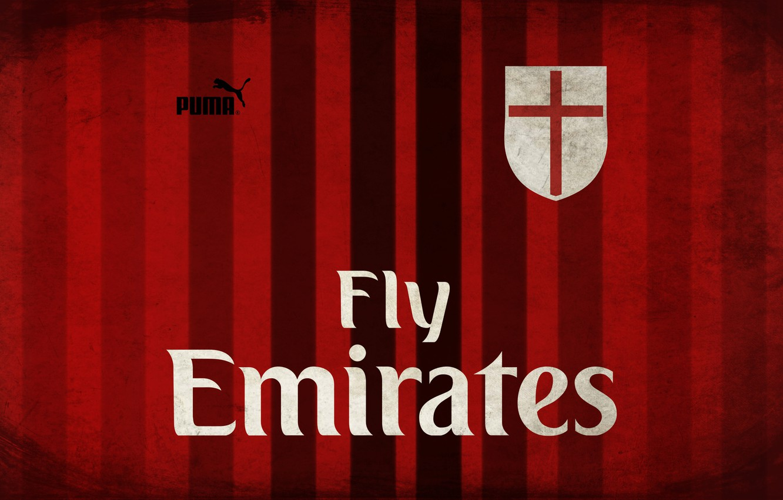 Фото обои wallpaper, sport, red, black, old, football, soccer, Milan, AC Milan
