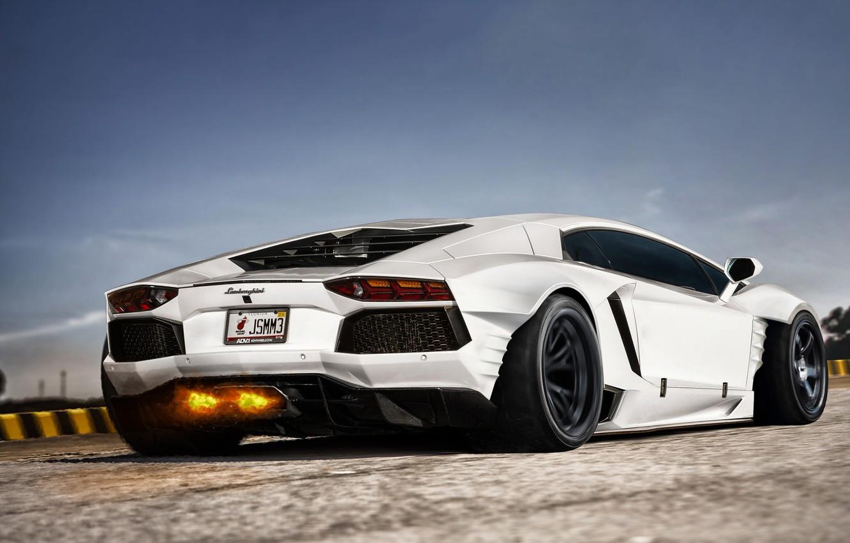 Обои Lamborghini, White. Автомобили foto 11