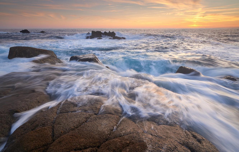 Обои утро, побережье. Пейзажи foto 8