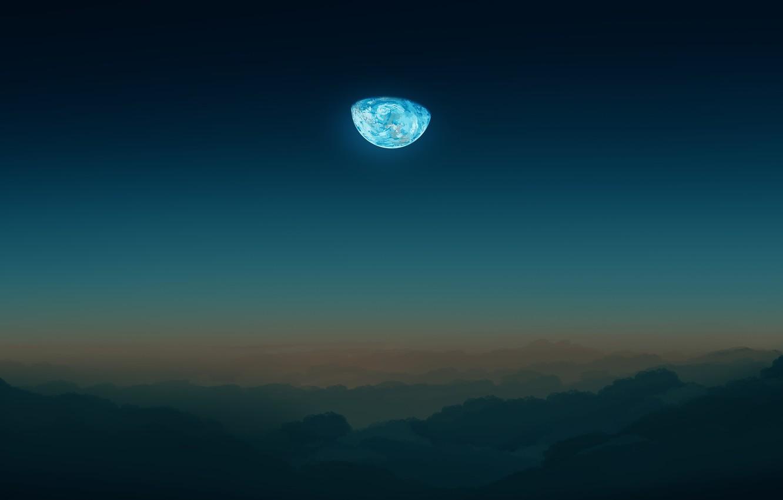 Фото обои небо, луна, by Gracile