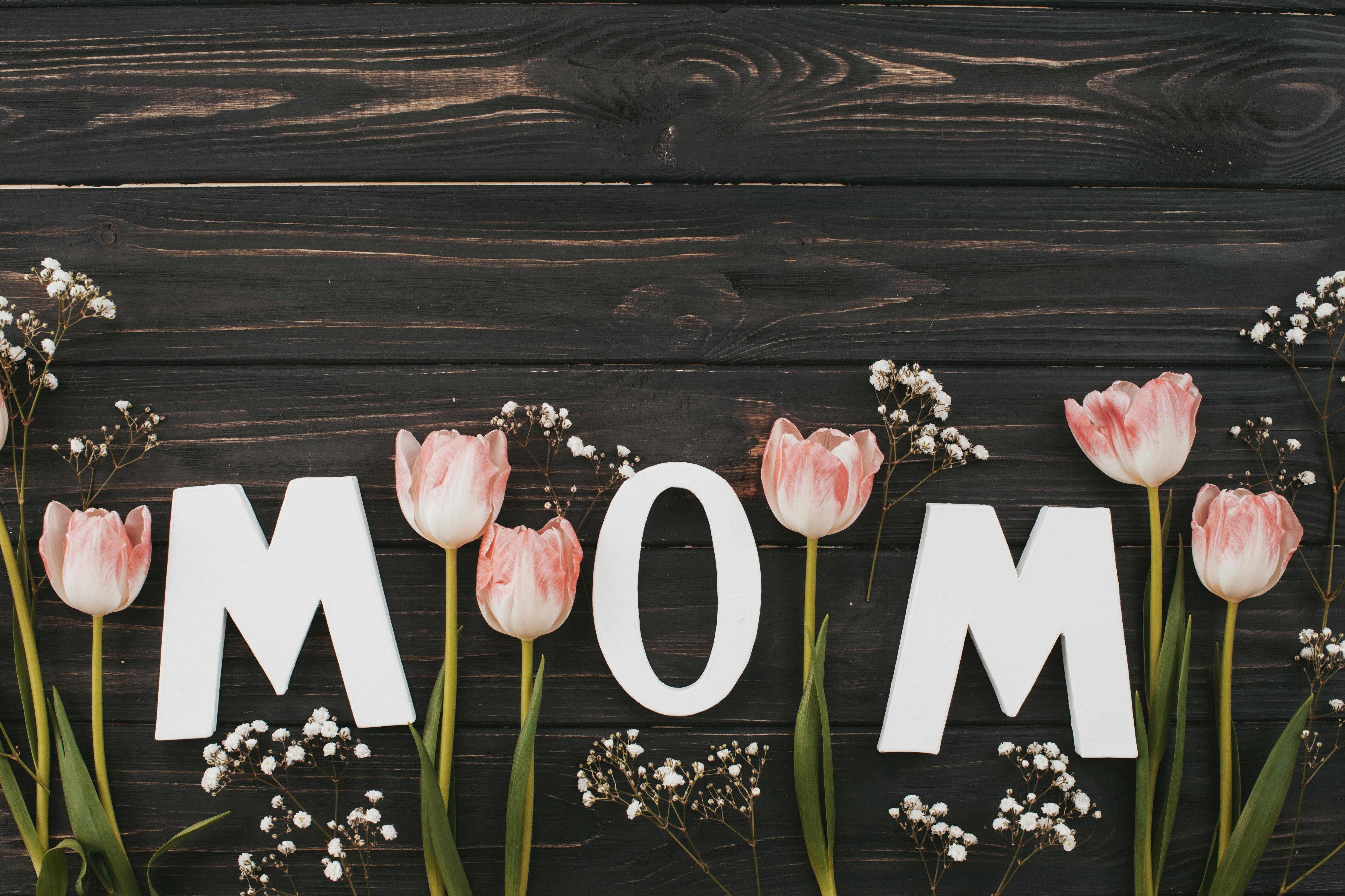 Фото с надписью маме