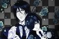 Картинка розы, Сиэль, Тёмный дворецкий, Kuroshitsuji, Себастьян