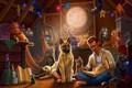 Картинка Собака, Комната, Дядя
