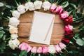 Картинка цветы, розы, рамка, white, wood, pink, flowers, romantic, roses, frame